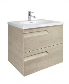 Pravia Maple 60cm Vanity Unit 2 Drawer and Aida Basin