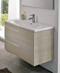 Pravia Maple 80cm Vanity Unit 2 Drawer and Aida Basin