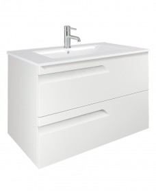 Pravia White 80cm Vanity Unit 2 Drawer and Basin