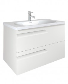 Pravia White 80cm Vanity Unit 2 Drawer and Aida Basin