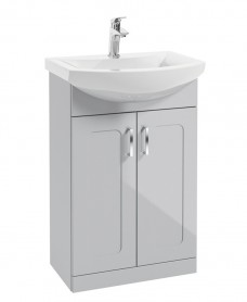 Barna 55cm Cool Grey Vanity Unit & Basin