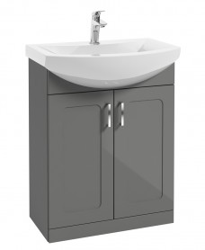 Barna 65cm Steel Grey Vanity Unit & Basin