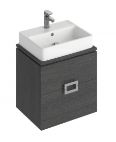 Ava 55cm  Base Unit Dark Wood and Brook Basin