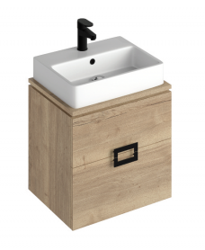 Ava Halifax Oak 55 Vanity Unit and BROOK Countertop Basin