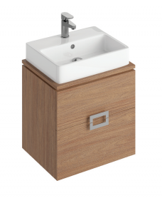 Ava Walnut 55 CounterTop Vanity Unit and BROOK Basin