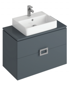 Ava 80cm Base Unit Anthracite & Brook Basin