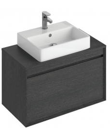 Regine 80cm Base Unit Dark Wood & Brook Basin