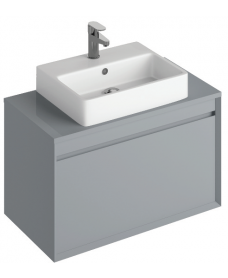 Regine 80cm Base Unit Pearl Grey & Brook Basin