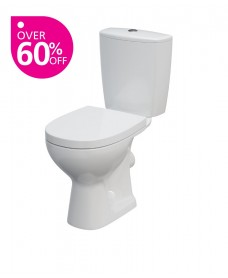 Cairo Close Coupled Toilet and Seat