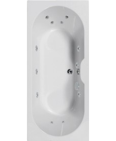 Chelsea 1700x750 Double Ended 12 Jet Whirlpool Bath