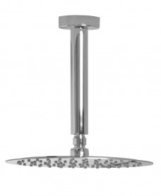 Caria Round 200 Shower Head & 200 Ceiling Shower Arm - Ultra Thin