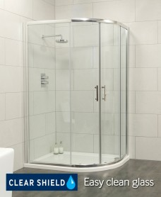 Cello 1000x800 Offset Quadrant Shower Enclosure -Adjustment 965-990mm + 765 - 790mm