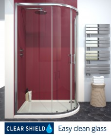 Cello Plus 1200 x 900 Offset Quadrant Door, Adjustment 1165 - 1190mm, 765-790mm