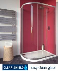 Cello Plus 1200 x 900 Offset Quadrant Single Door, Adjustment 1165 - 1190mm, 765-790mm