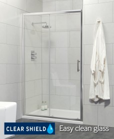 Cello 1200 Slider and JT Ultracast 1200x900 Upstand Shower Tray