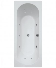 Crofton 1800 x 800 Double Ended 12 Jet Whirlpool Bath