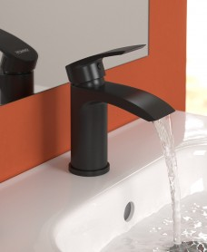 Carter Black Basin Mixer with FREE click clack basin waste