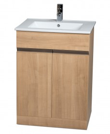 Attica Oak 60cm Vanity Unit & Totano Washbasin