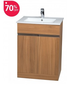 Attica Walnut 60cm Vanity Unit & Totano Washbasin