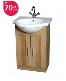 Cordoba Oak 55cm Vanity Unit & Basin