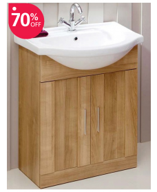 Cordoba Oak 65cm Vanity Unit & Basin
