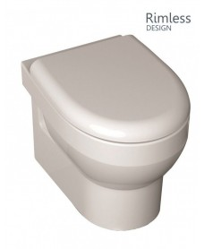 Miami Wall Hung RIMLESS Toilet with Soft Close Seat