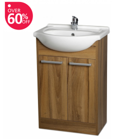 Crete Walnut 55cm Unit & Basin - An Extra 10% off With Code MAY10