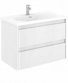 Vichy Gloss White 80 cm Wall Hung Vanity Unit and Aida Basin