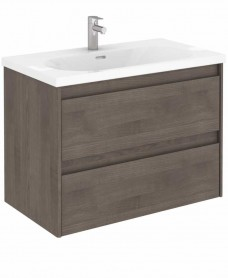 Vichy Ash 80 cm Wall Hung Vanity Unit and Aida Basin