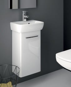 Twyford E100 360 White Vanity Unit - Wall Hung