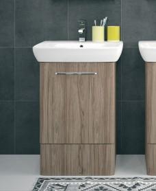 Twyford E100 500 Grey Ash Vanity Unit - Floor Standing