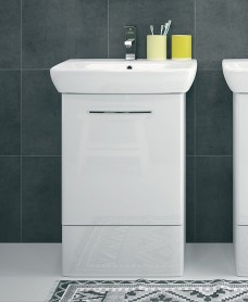 Twyford E100 550 White Vanity Unit Only ( No Basin )