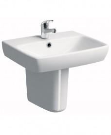 Twyford E100 Square 550 Basin & Semi Pedestal