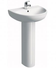 Twyford E100 Round 600 Basin & Pedestal
