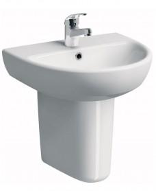Twyford E100 Round 600 Basin & Semi Pedestal