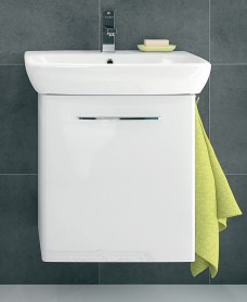 Twyford E100 600 White Vanity Unit - Wall Hung