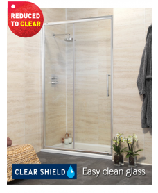 Rival Range 1700mm Sliding Door - Adjustment 1640-1700mm - REDUCED TO CLEAR