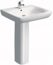 Twyford E100 Comfort 550 Basin & Pedestal - ** SPECIAL ORDER
