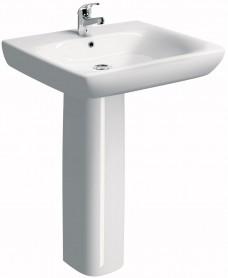 Twyford E100 Comfort 650 Basin & Pedestal - ** SPECIAL ORDER