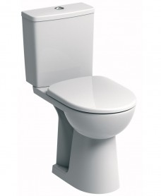 Twyford E100 Square Close Coupled Comfort Height Toilet & Soft Close Seat