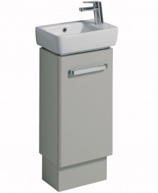 Twyford E200 400 Grey Vanity Unit and Basin Floor Standing RH Tap