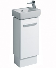 Twyford E200 400 White Vanity Unit and Basin Floor Standing RH Tap