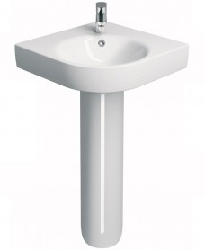 Twyford E200 500 Corner Handrinse Basin & Pedestal