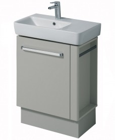 Twyford E200 650 Grey Vanity Unit Floor Standing with RH Towel Rail