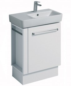 Twyford E200 650 White Vanity Unit Floor Standing with LH Towel Rail- **A Further 10% Off with Code JAN10