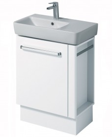 Twyford E200 650 White Vanity Unit Floor Standing with RH Towel Rail- **A Further 10% Off with Code JAN10