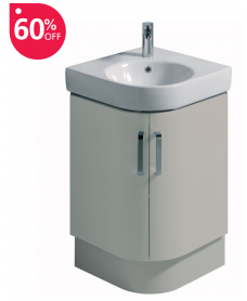 Twyford E200 500 Grey Corner Vanity Unit Floor Standing - * 60% Off