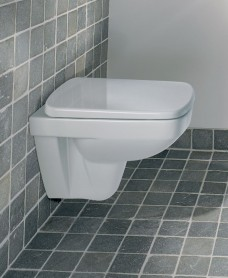 Twyford E200 Space Saver Wall Hung Toilet & Soft Close Seat - Short Projection 480mm