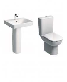 Twyford E500 Square Rimfree® Toilet and Wash Basin Set