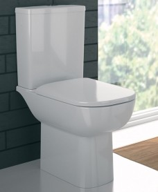 Twyford E500 Square Rimfree® Close Coupled Toilet & Soft Close Seat